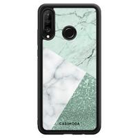 Casimoda Huawei P30 Lite hoesje - Minty marmer collage