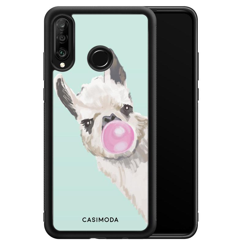 Casimoda Huawei P30 Lite hoesje - Retro lama