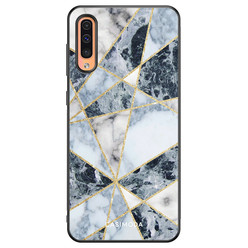 Casimoda Samsung Galaxy A50/A30s hoesje - Abstract marmer blauw