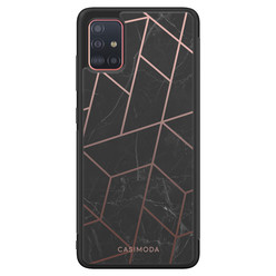 Casimoda Samsung Galaxy A51 hoesje - Marble grid