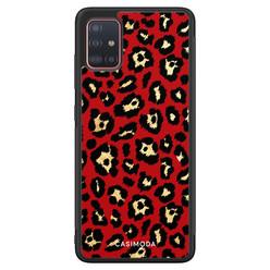 Casimoda Samsung Galaxy A51 hoesje - Luipaard rood