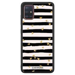 Casimoda Samsung Galaxy A51 hoesje - Hart streepjes