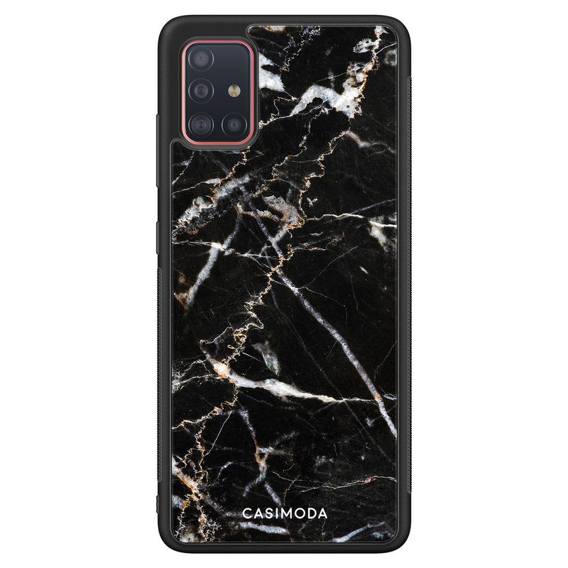 Casimoda Samsung Galaxy A51 hoesje - Marmer zwart