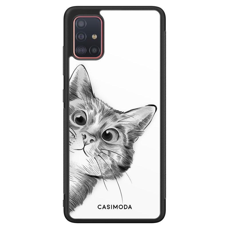 Casimoda Samsung Galaxy A51 hoesje - Peekaboo