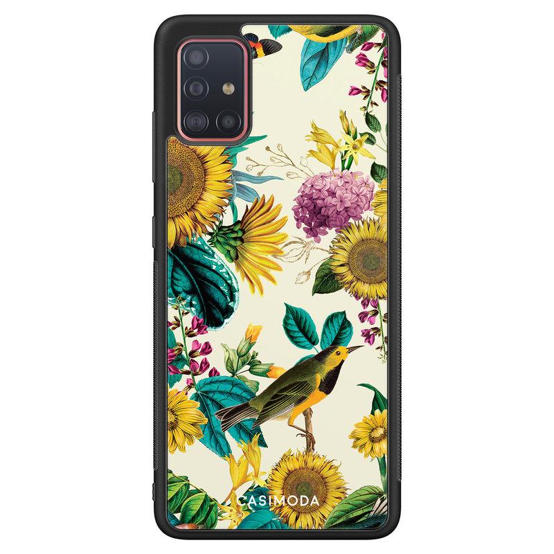 Casimoda Samsung Galaxy A51 hoesje - Sunflowers