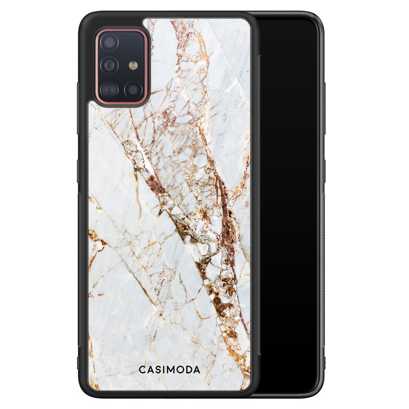 Casimoda Samsung Galaxy A51 hoesje - Marmer goud
