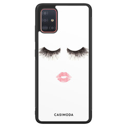 Casimoda Samsung Galaxy A51 hoesje - Kiss wink