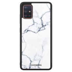 Casimoda Samsung Galaxy A51 hoesje - Marmer grijs
