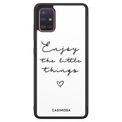 Casimoda Samsung Galaxy A51 hoesje - Enjoy life