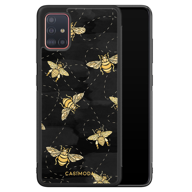 Casimoda Samsung Galaxy A51 hoesje - Bee yourself