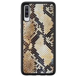 Casimoda Samsung Galaxy A70 hoesje - Golden snake
