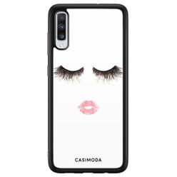 Casimoda Samsung Galaxy A70 hoesje - Kiss wink