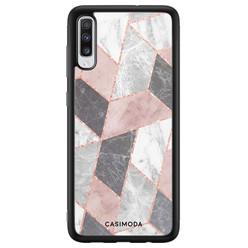 Casimoda Samsung Galaxy A70 hoesje - Stone grid
