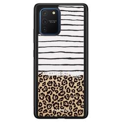 Casimoda Samsung Galaxy S10 Lite hoesje - Leopard lines