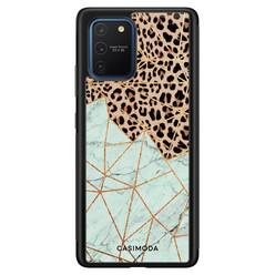 Casimoda Samsung Galaxy S10 Lite hoesje - Luipaard marmer mint