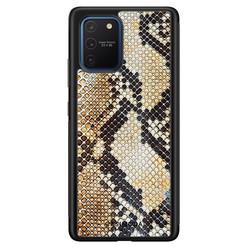 Casimoda Samsung Galaxy S10 Lite hoesje - Golden snake