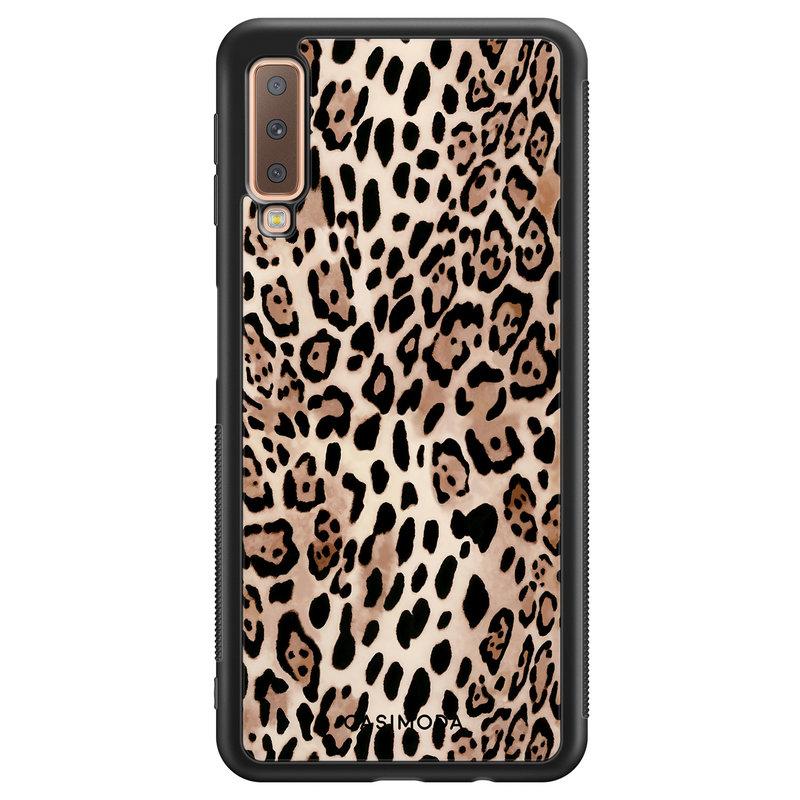 Casimoda Samsung Galaxy A7 2018 hoesje - Golden wildcat