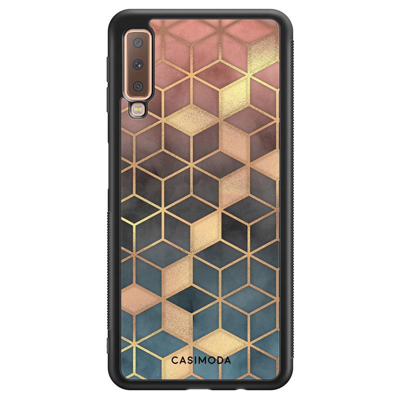 Casimoda Samsung Galaxy A7 2018 hoesje - Cubes art