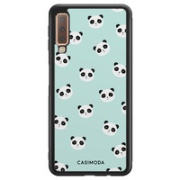 Casimoda Samsung Galaxy A7 2018 hoesje - Panda print