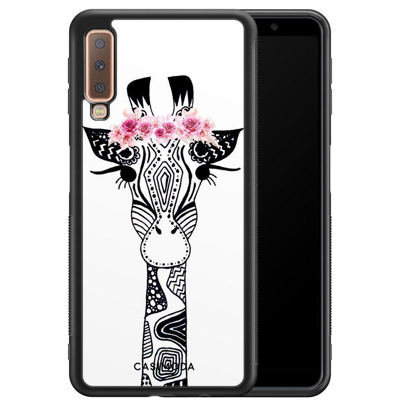 Casimoda Samsung Galaxy A7 2018 hoesje - Giraffe