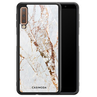 Casimoda Samsung Galaxy A7 2018 hoesje - Marmer goud