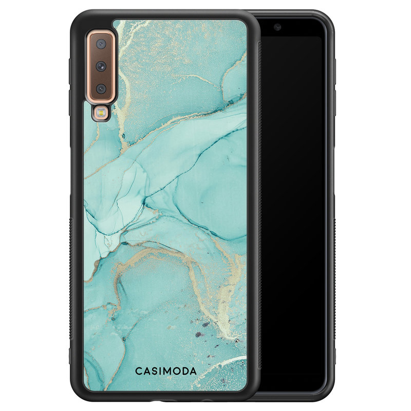 Casimoda Samsung Galaxy A7 2018 hoesje - Touch of mint