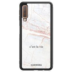 Casimoda Samsung Galaxy A7 2018 hoesje - C'est la vie