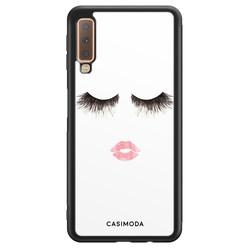Casimoda Samsung Galaxy A7 2018 hoesje - Kiss wink