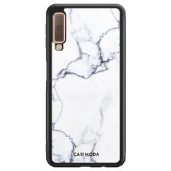 Casimoda Samsung Galaxy A7 2018 hoesje - Marmer grijs