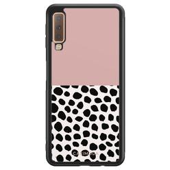Casimoda Samsung Galaxy A7 2018 hoesje - Pink dots