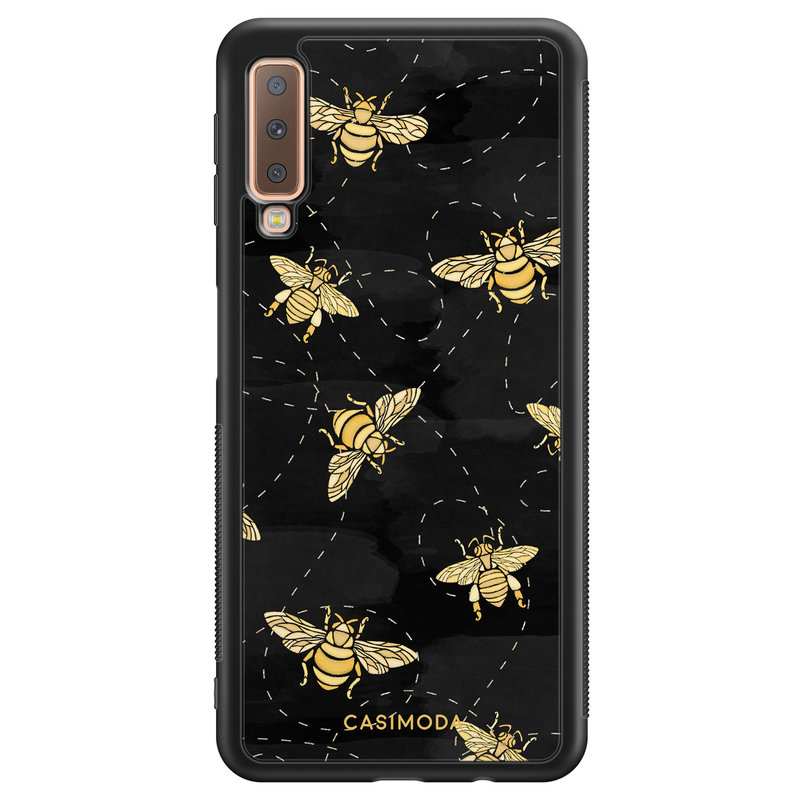 Casimoda Samsung Galaxy A7 2018 hoesje - Bee yourself