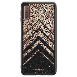 Casimoda Samsung Galaxy A7 2018 hoesje - Chevron luipaard