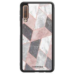 Casimoda Samsung Galaxy A7 2018 hoesje - Stone grid