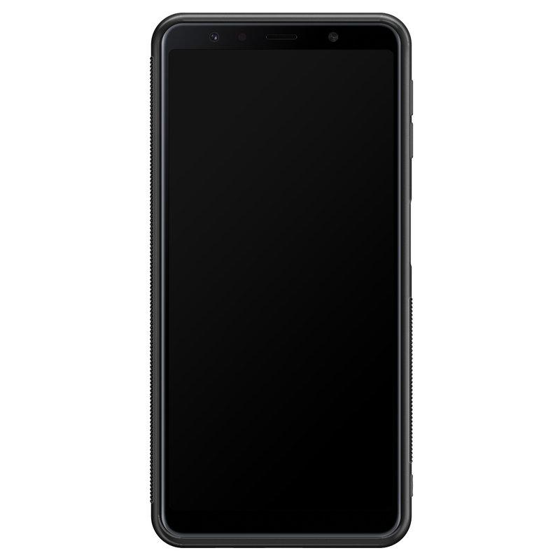 Casimoda Samsung Galaxy A7 2018 hoesje - Luipaard groen