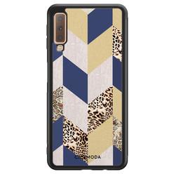 Casimoda Samsung Galaxy A7 2018 hoesje - Blue leo wild