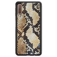 Casimoda Samsung Galaxy A7 2018 hoesje - Golden snake