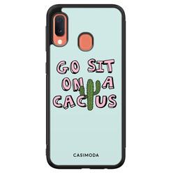 Casimoda Samsung Galaxy A20e hoesje - Go sit on a cactus