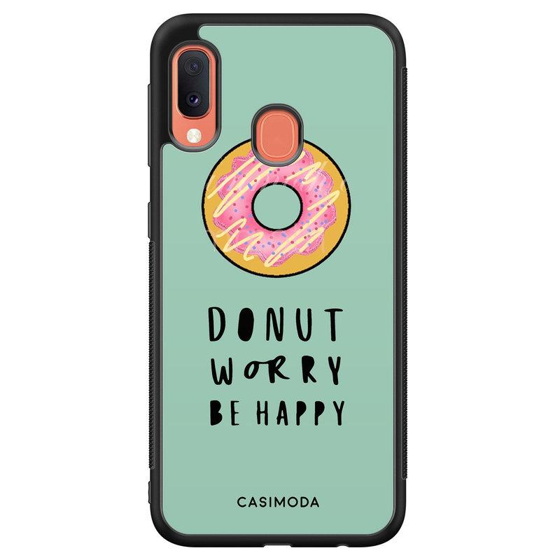 Casimoda Samsung Galaxy A20e hoesje - Donut worry
