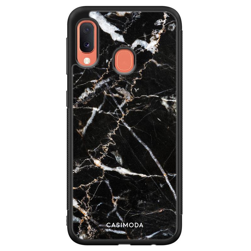 Casimoda Samsung Galaxy A20e hoesje - Marmer zwart