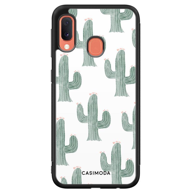 Casimoda Samsung Galaxy A20e hoesje - Cactus print