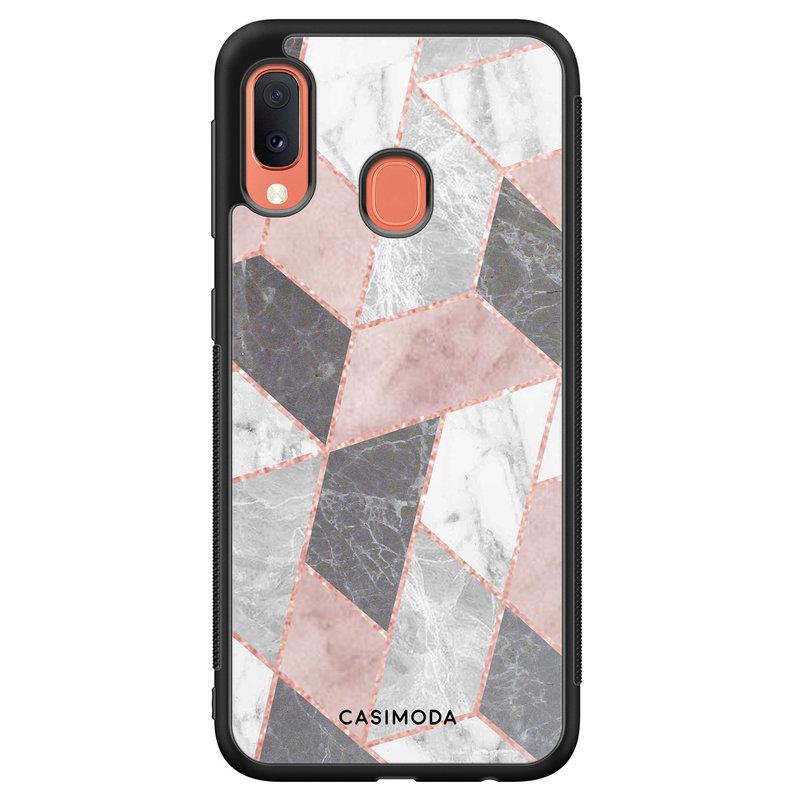 Casimoda Samsung Galaxy A20e hoesje - Stone grid