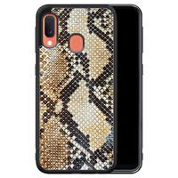 Casimoda Samsung Galaxy A20e hoesje - Golden snake