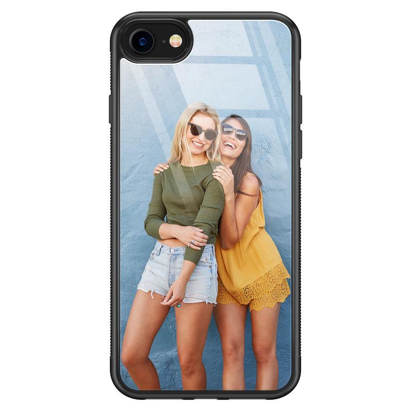 iPhone SE 2020 glazen hoesje - Hardcase met foto