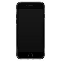 iPhone SE 2020 glazen hoesje ontwerpen - Marmer zwart oranje