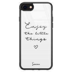 iPhone SE 2020 glazen hoesje ontwerpen - Enjoy life