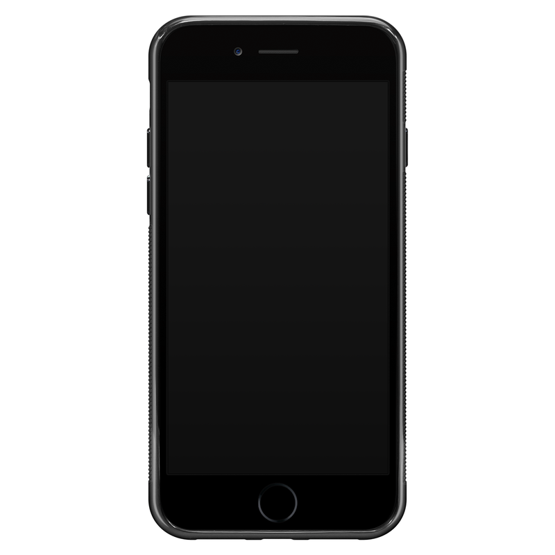 iPhone SE 2020 glazen hoesje ontwerpen - Marmer grijs