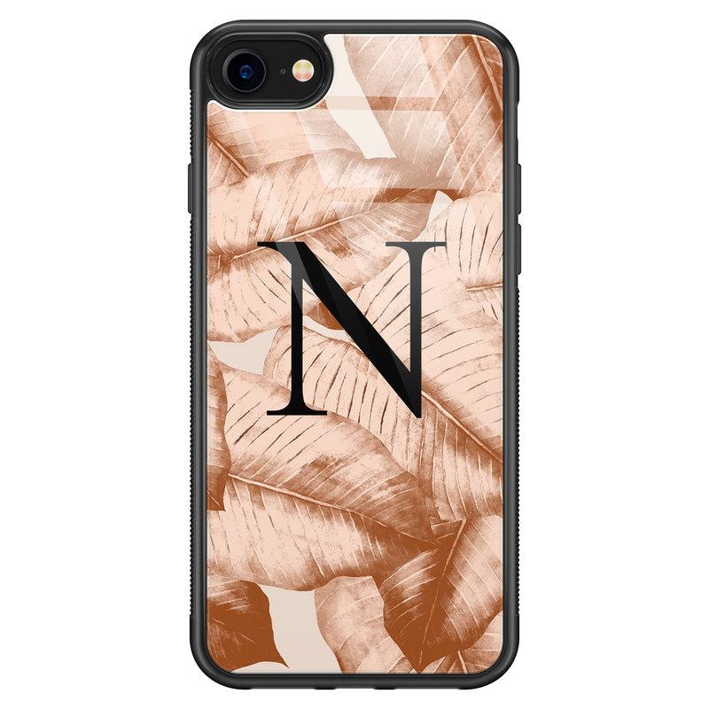 iPhone SE 2020 glazen hoesje ontwerpen - Golden leaves