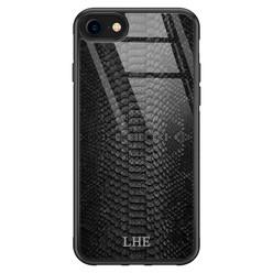 iPhone SE 2020 glazen hoesje ontwerpen - Black snake