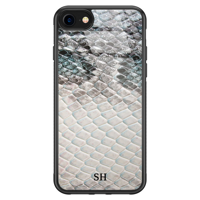 iPhone SE 2020 glazen hoesje ontwerpen - Smooth snake