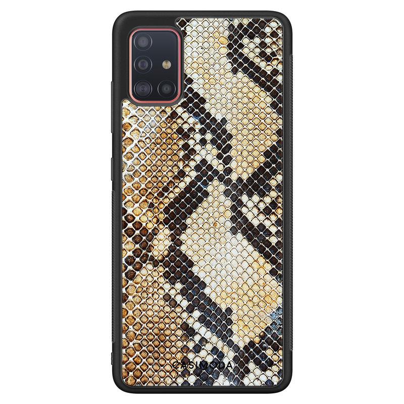 Casimoda Samsung Galaxy A71 hoesje - Golden snake